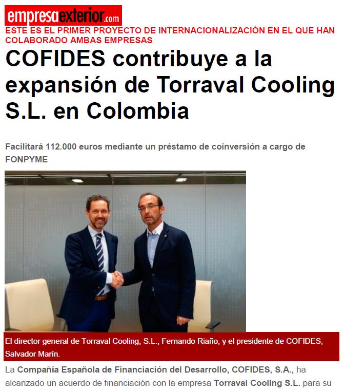 Confides y Torraval Cooling