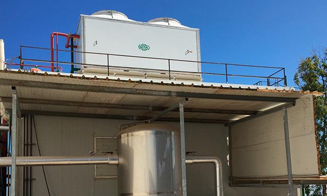 Condensadores evaporativos en Creta Farm