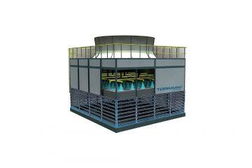 Las torres de refrigeración o también llamadas torres de enfriamiento por evaporación aprovechan un principio físico simple y natural. Este consiste en que la evaporación forzada de una cantidad mínima de agua reduce la temperatura de la masa de agua principal.