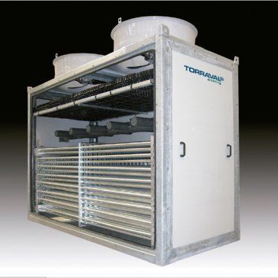 Torre de refrigeración cerrada en industria alimentaria