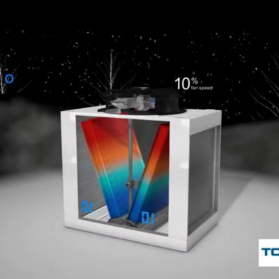 Cómo funciona el refrigerador y condensador adiabático PAD-V: video