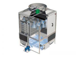 torres de refrigeración de circuito cerrado e híbridos