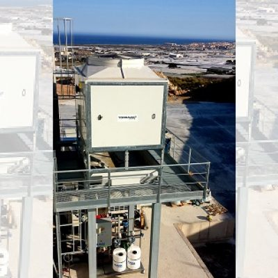 Cooling tower on skid for Kimitec