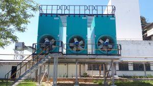 Torres de refrigeración de circuito abierto y tiro forzado TORRAVAL en industria papelera