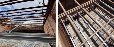 renovación torre de refrigeración - Vigas de soporte 2