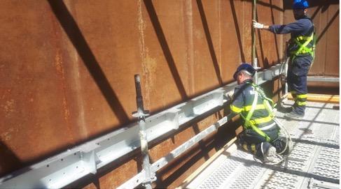 renovación torre de refrigeración - Vigas de soporte