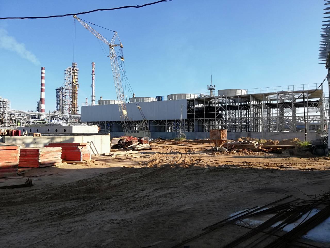 torres de refrigeración refinería mozyr