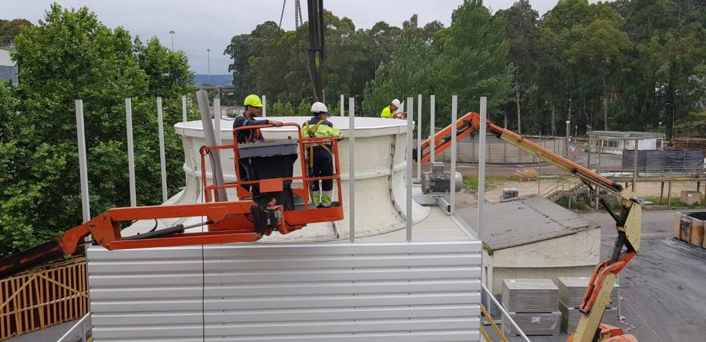 fabricantes de torres de refrigeración montadas en campo